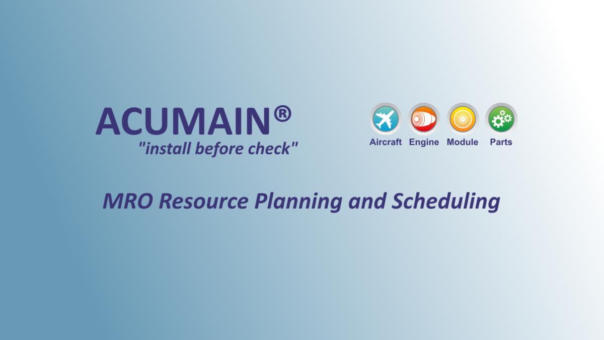 ACUMAIN MRO Resource Planning